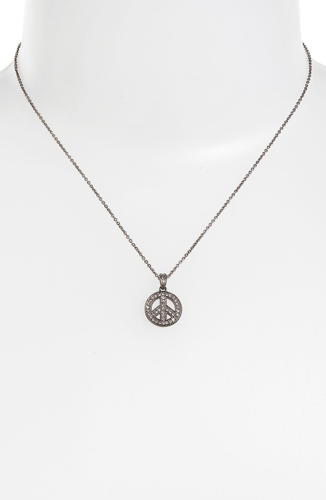 Alternate Image 2  - Nadri 'Peace Sign' Pendant Necklace (Nordstrom Exclusive)