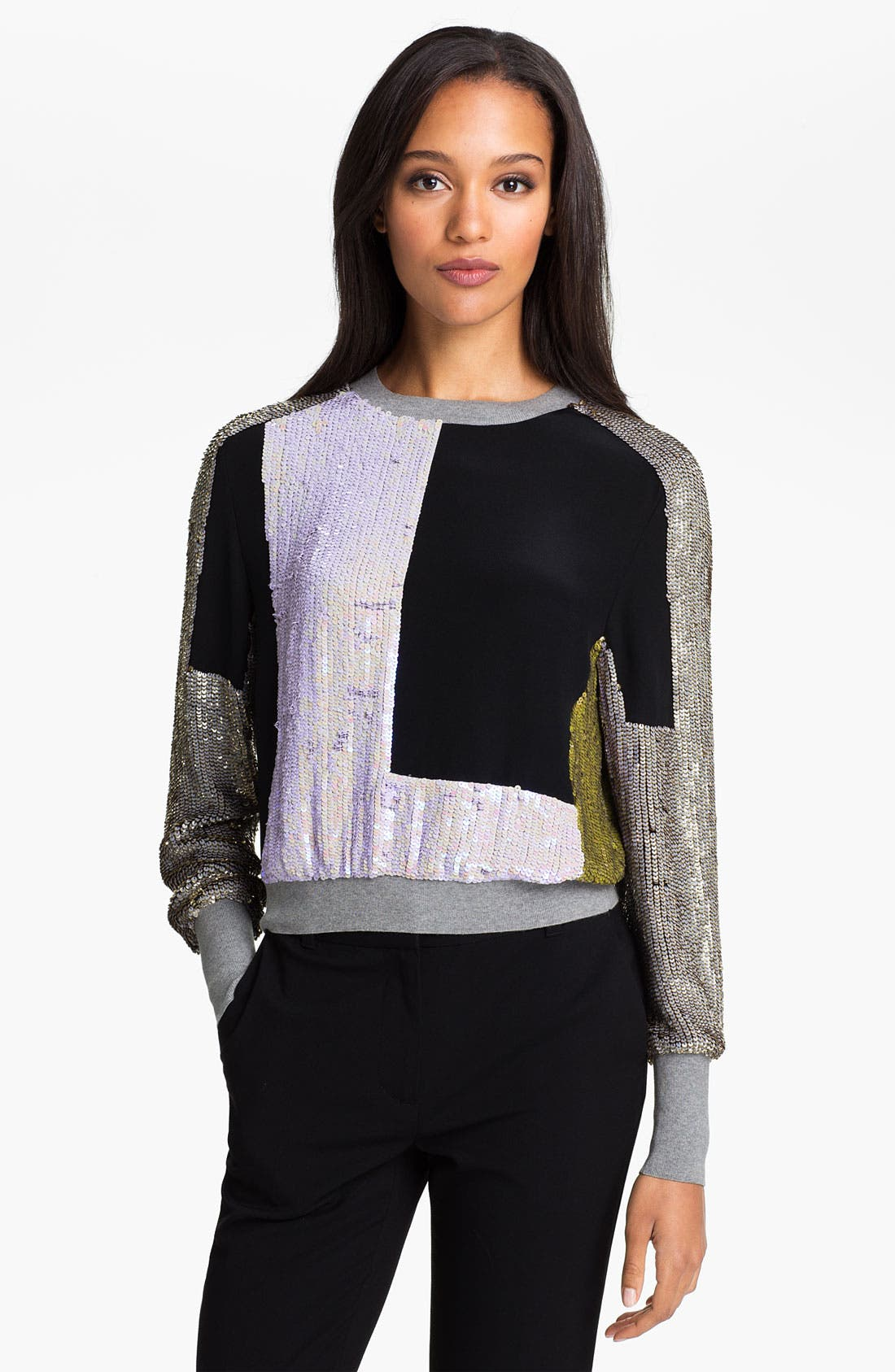 Alternate Image 1 Selected - 3.1 Phillip Lim Patchwork Sequin Sweater