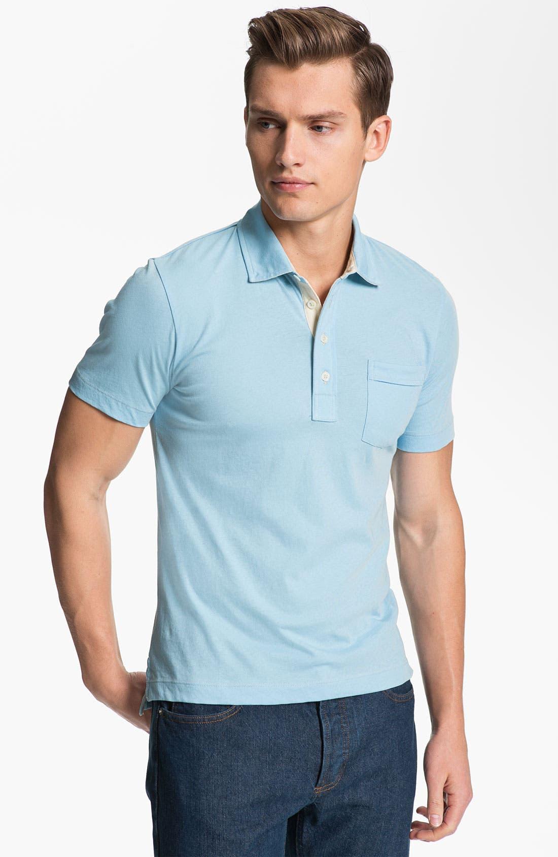 Pensacola Slim Fit Polo,                         Main,                         color, Lake Blue