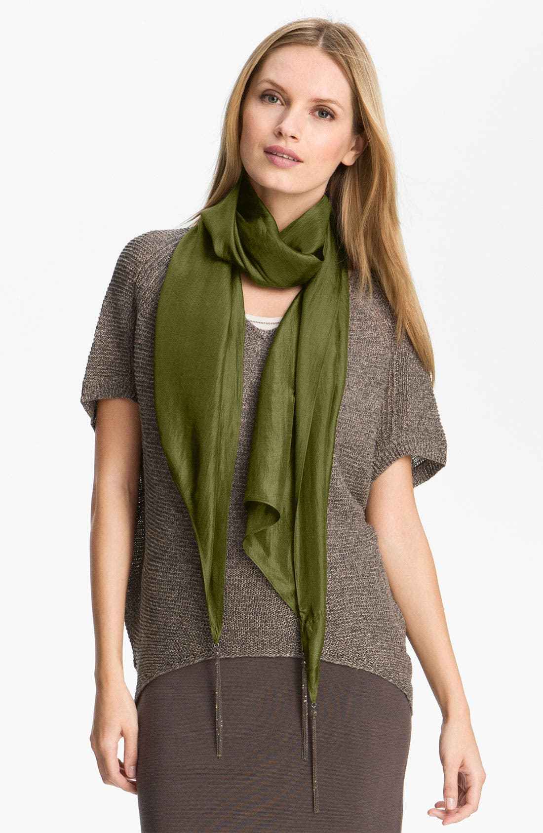 Main Image - Eileen Fisher 'Whisper Silk' Crinkled Scarf