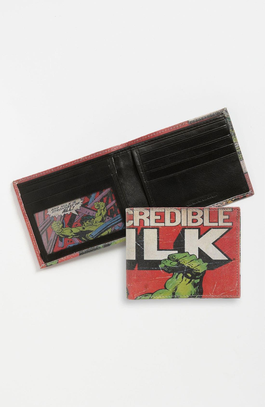 Alternate Image 1 Selected - Marvel 'Incredible Hulk™' Printed Leather Wallet