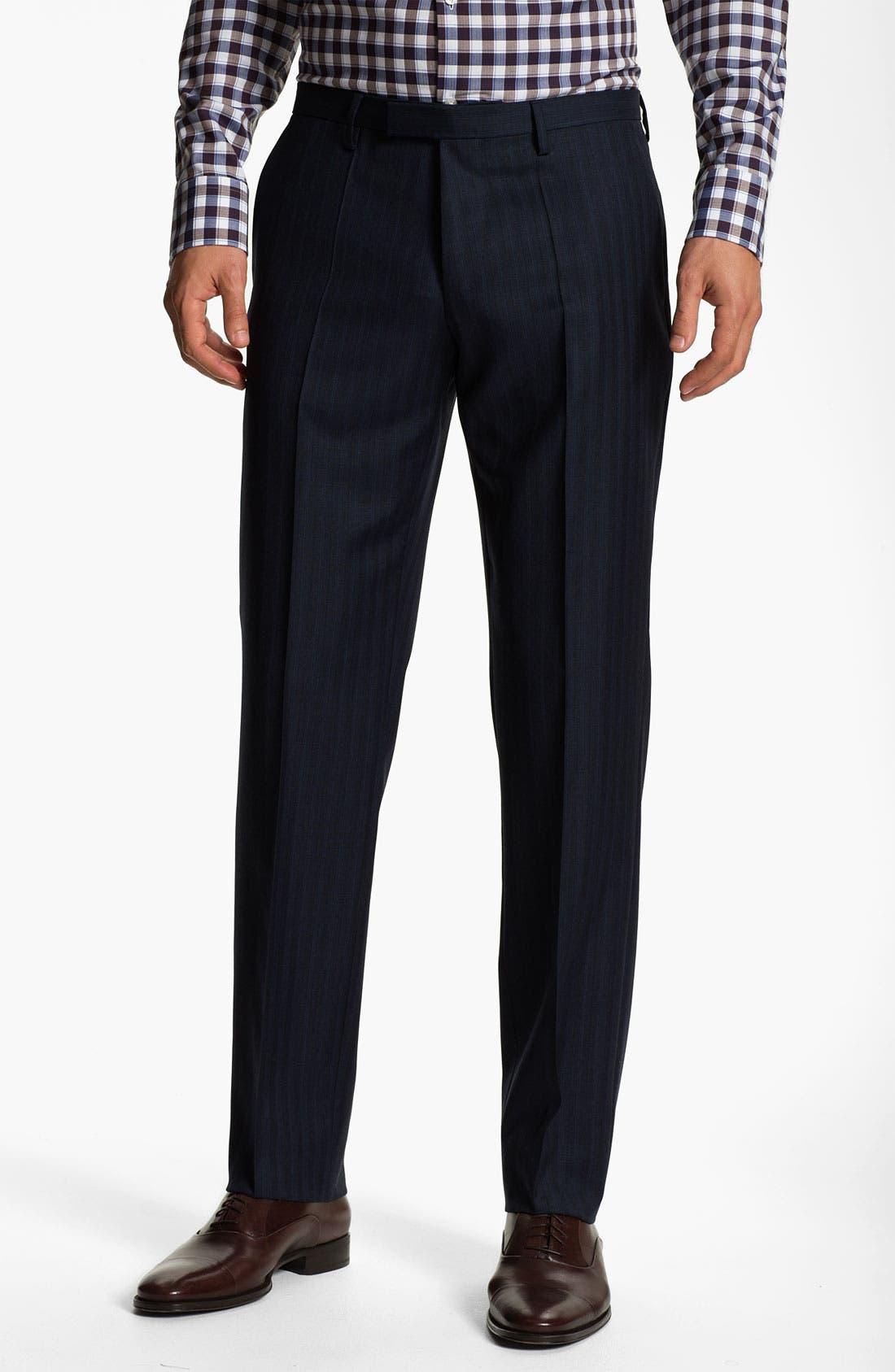 Alternate Image 4  - BOSS Selection 'Howard/Court' Trim Fit Herringbone Suit