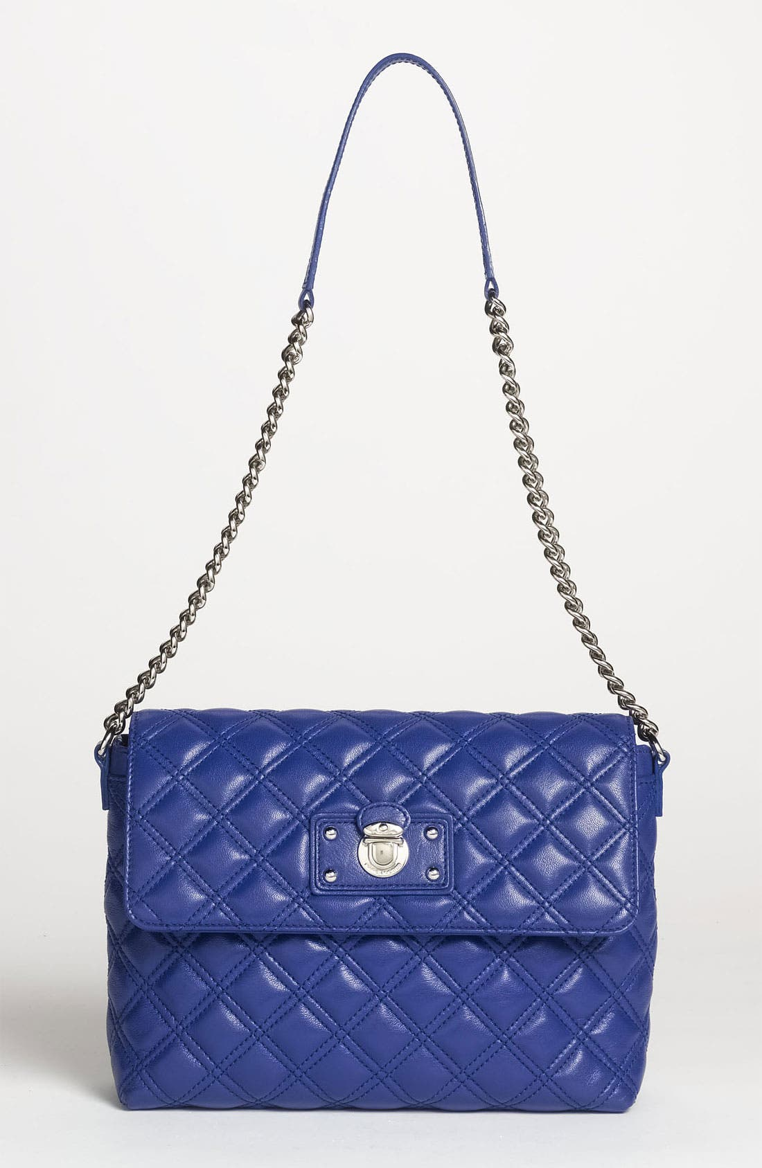 Main Image - MARC JACOBS 'Quilting - Large Single' Leather Shoulder Bag