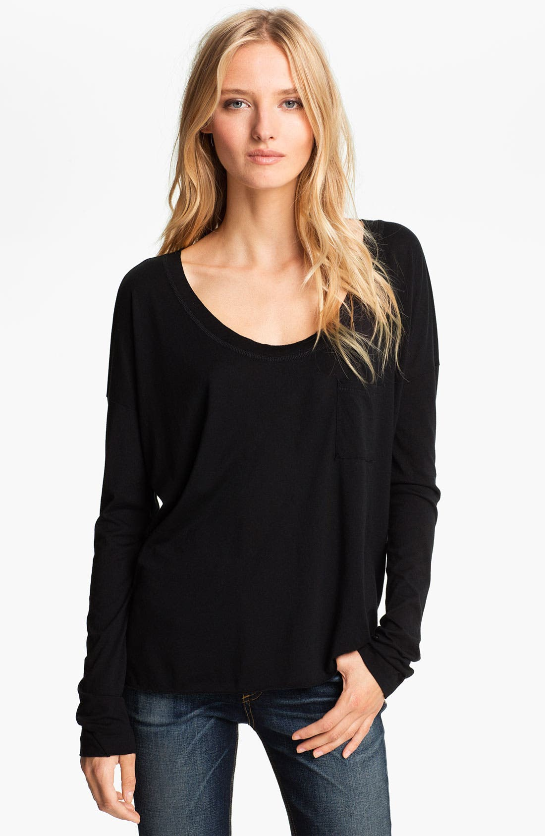 Alternate Image 1 Selected - rag & bone Long Sleeve Pocket Tee