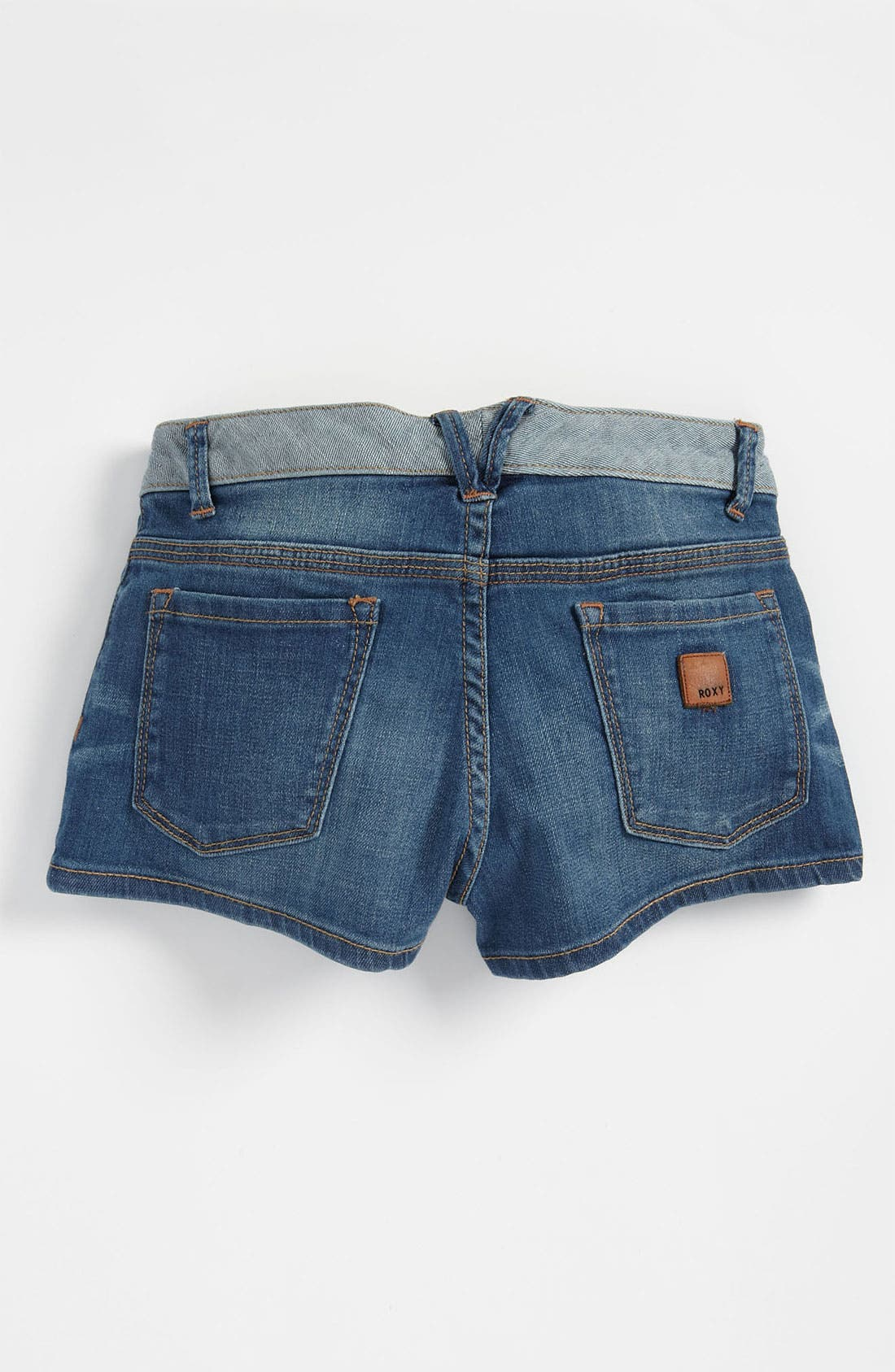 Alternate Image 1 Selected - Denim Shorts (Big Girls)