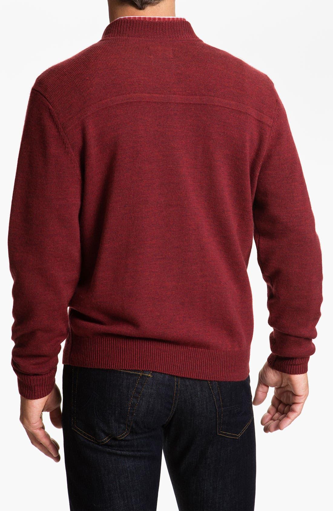 Alternate Image 2  - Cutter & Buck 'Brandywine' Argyle Textured Merino Wool Sweater (Big & Tall)