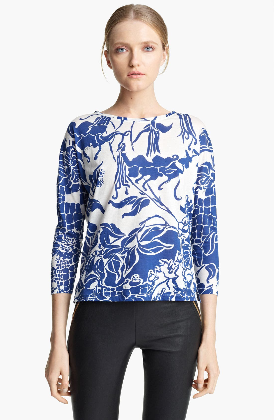 Alternate Image 1 Selected - Emilio Pucci Print Jersey Top
