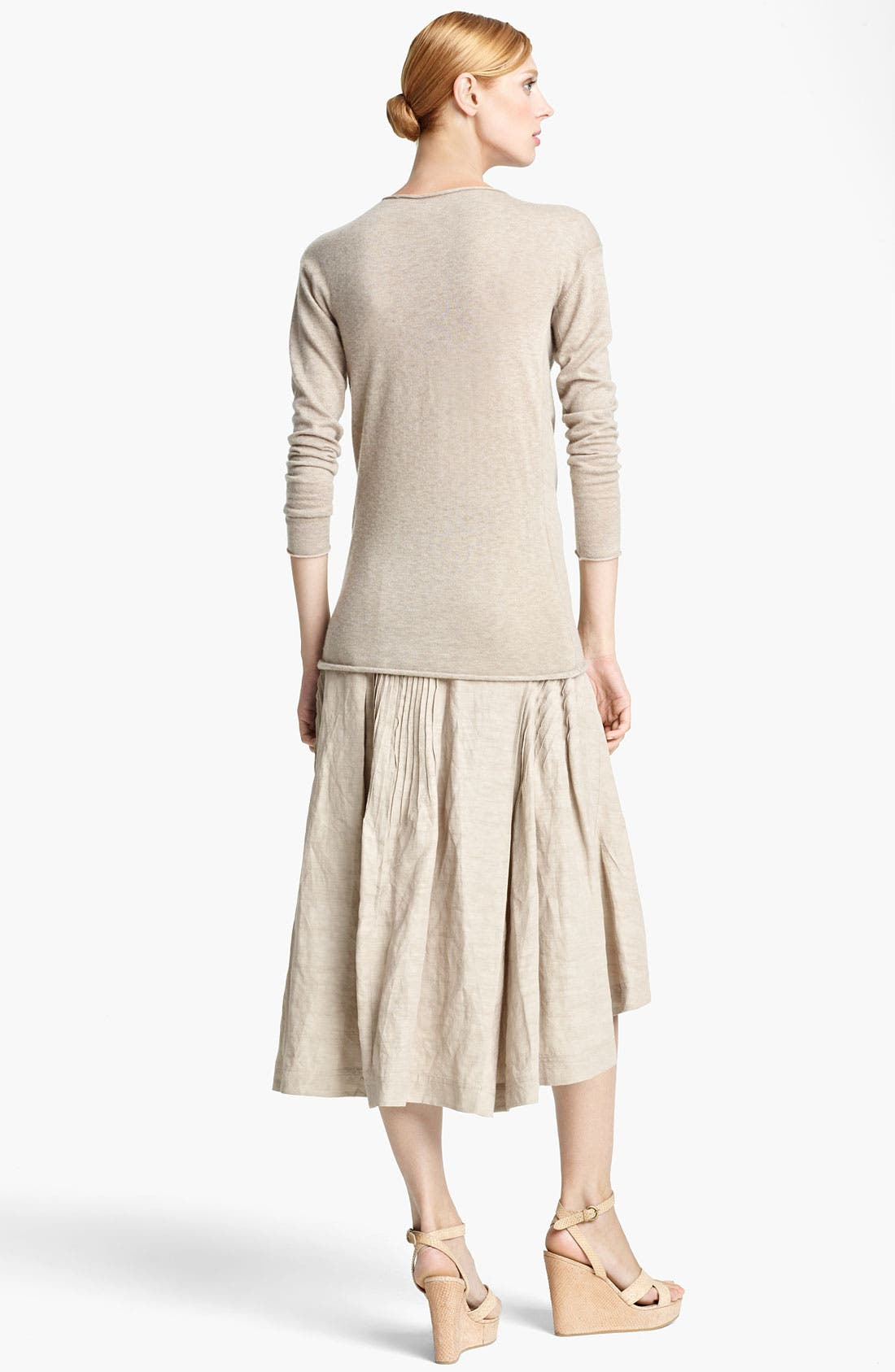 Alternate Image 3  - Donna Karan Collection Pintuck Linen Blend Skirt