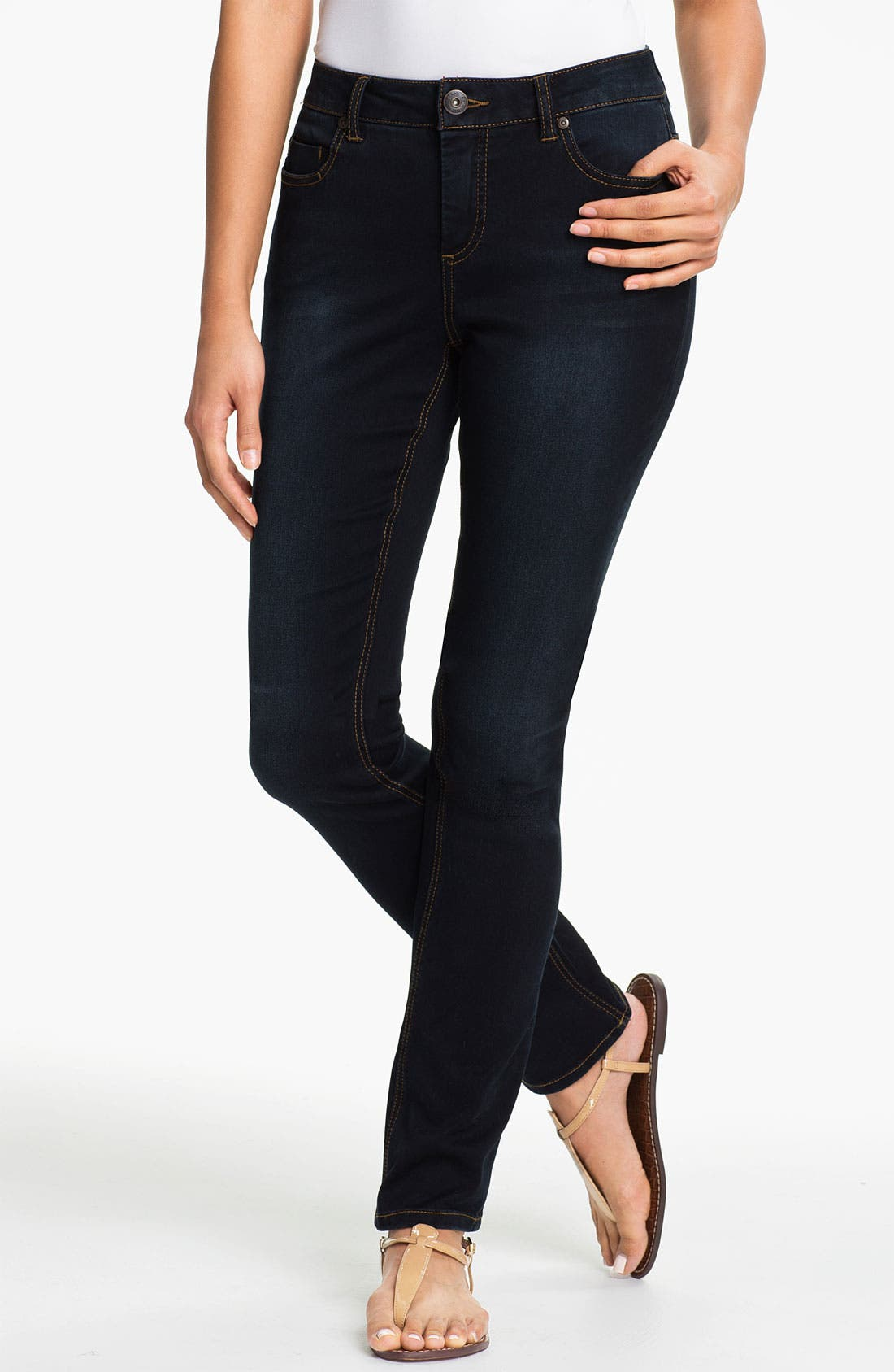 Alternate Image 1 Selected - Liverpool Jeans Company 'Sadie' Straight Leg Supersoft Stretch Jeans