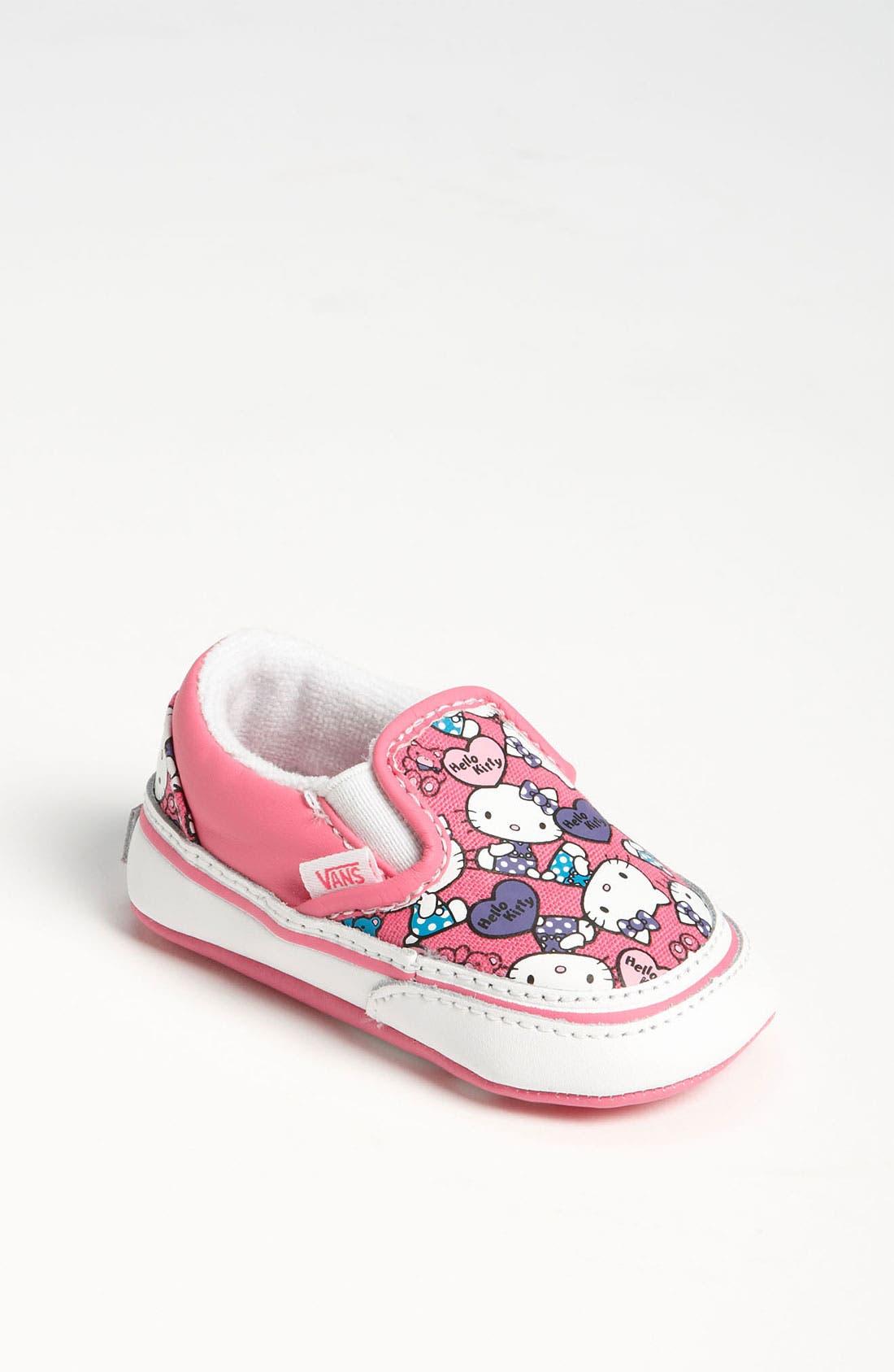 Alternate Image 1 Selected - Vans 'Classic - Hello Kitty®' Crib Shoe (Infant)