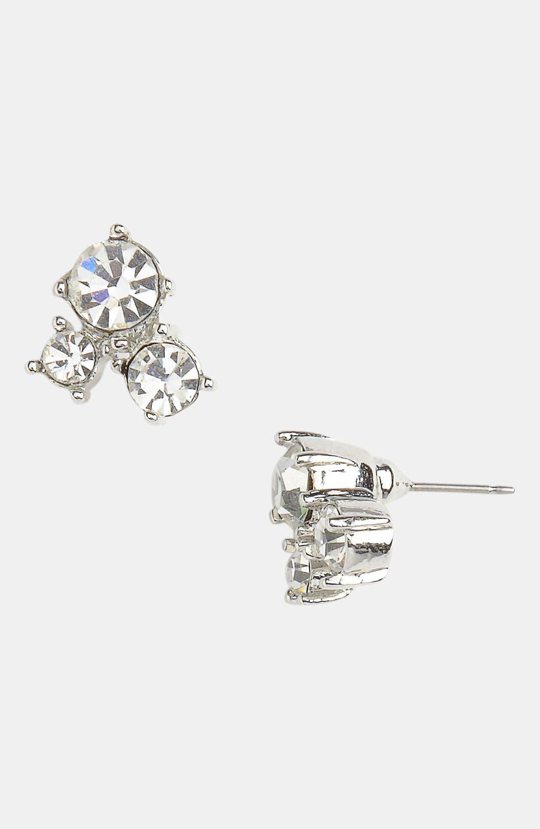 Alternate Image 1 Selected - Rachel Three Stone Stud Earrings