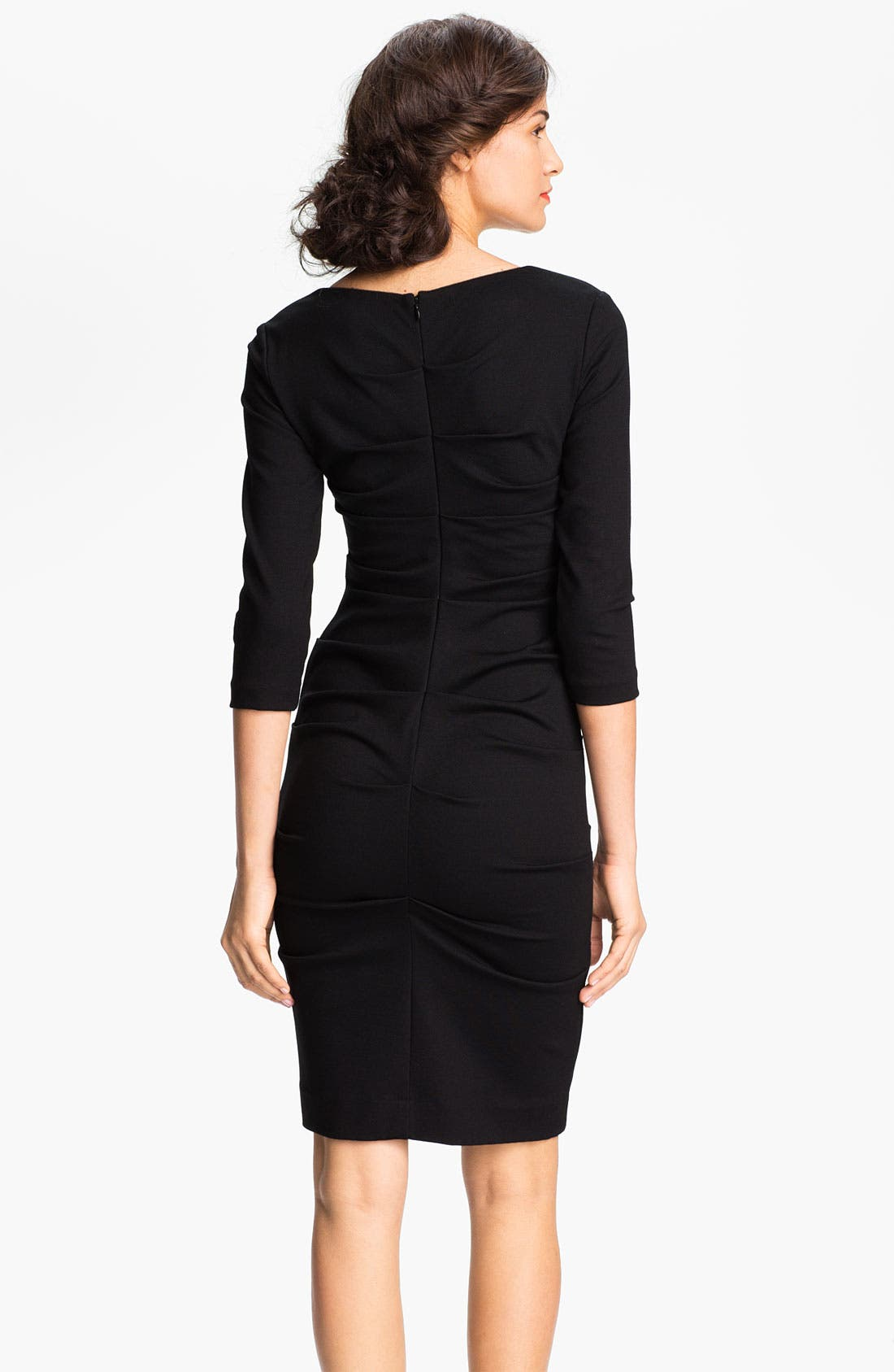 Alternate Image 2  - Nicole Miller Ruched Ponte Sheath Dress