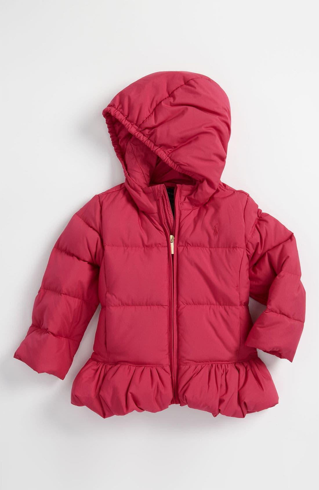 Alternate Image 1 Selected - Ralph Lauren Hooded Down Puffer Jacket (Toddler)
