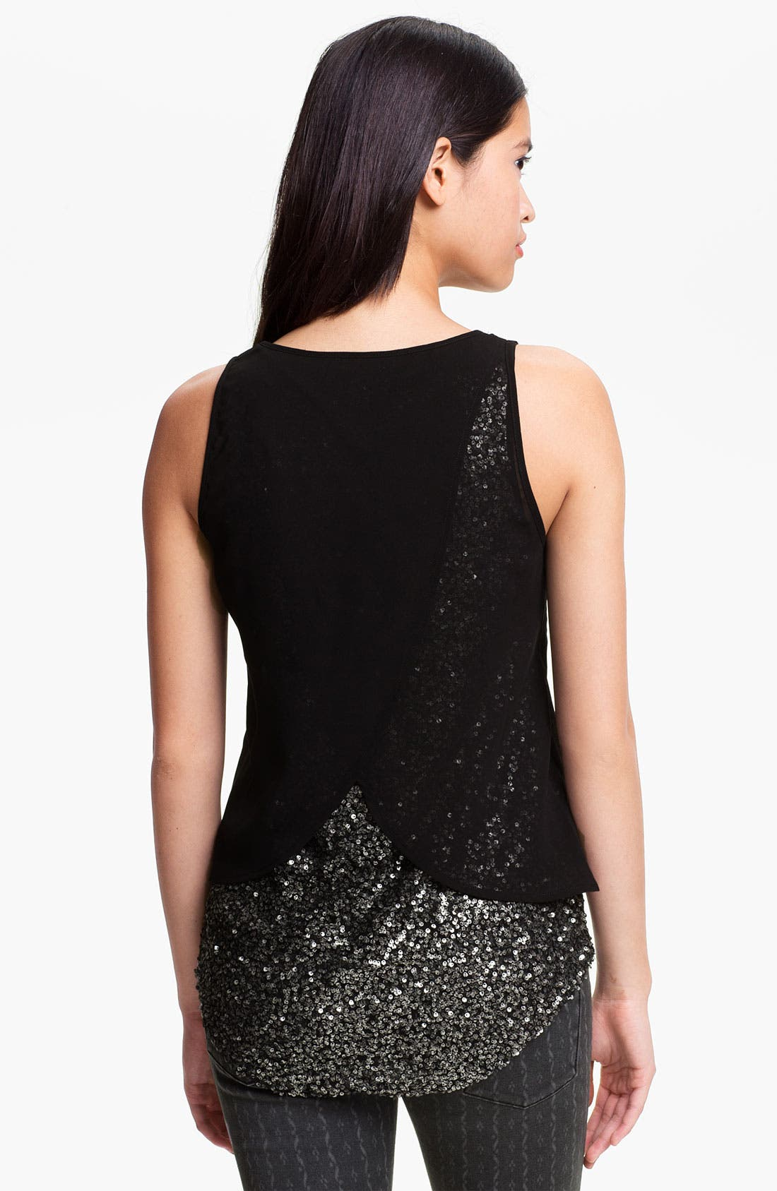 Alternate Image 2  - Lush Layered Sequin Tank