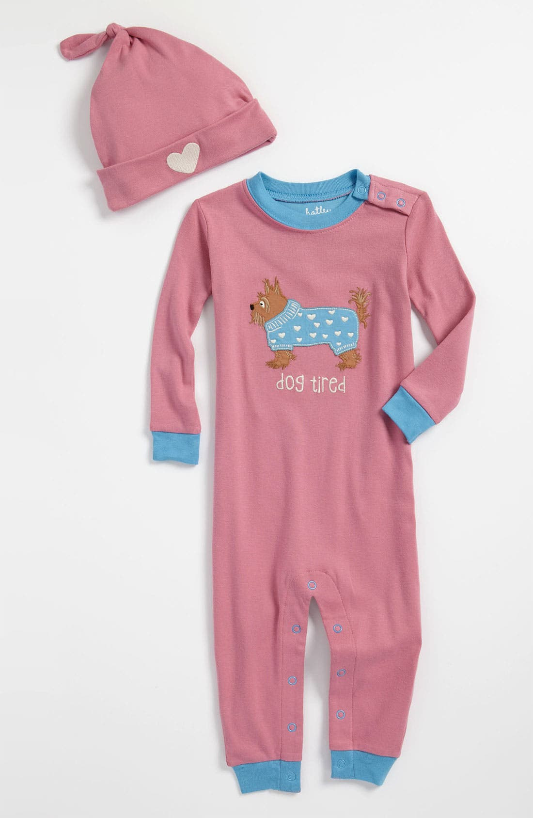 Alternate Image 1 Selected - Hatley Fitted Coveralls & Hat (Infant)