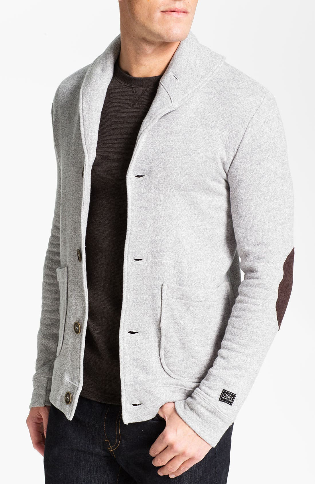 Main Image - Obey 'Smithson' Fleece Cardigan