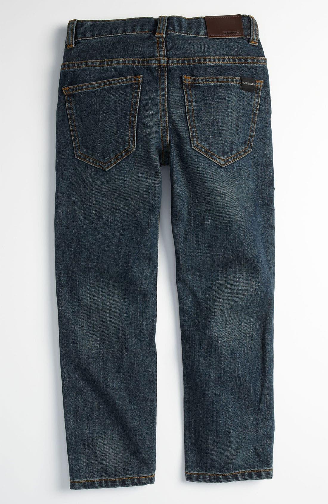 Main Image - Quiksilver 'Distortion' Slim Straight Leg Jeans (Little Boys)