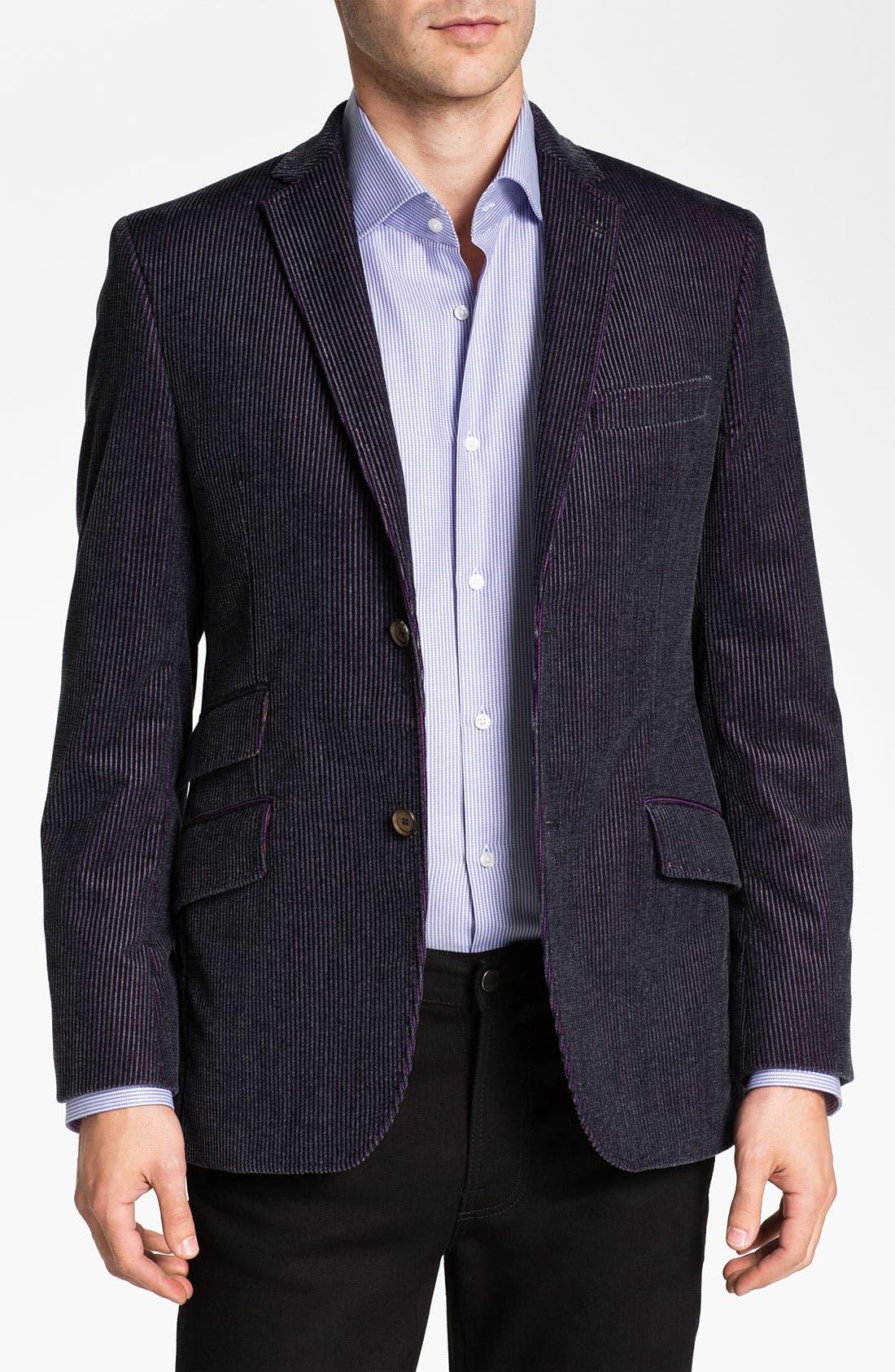 Alternate Image 1 Selected - Ted Baker London 'Global' Trim Fit Corduroy Sportcoat