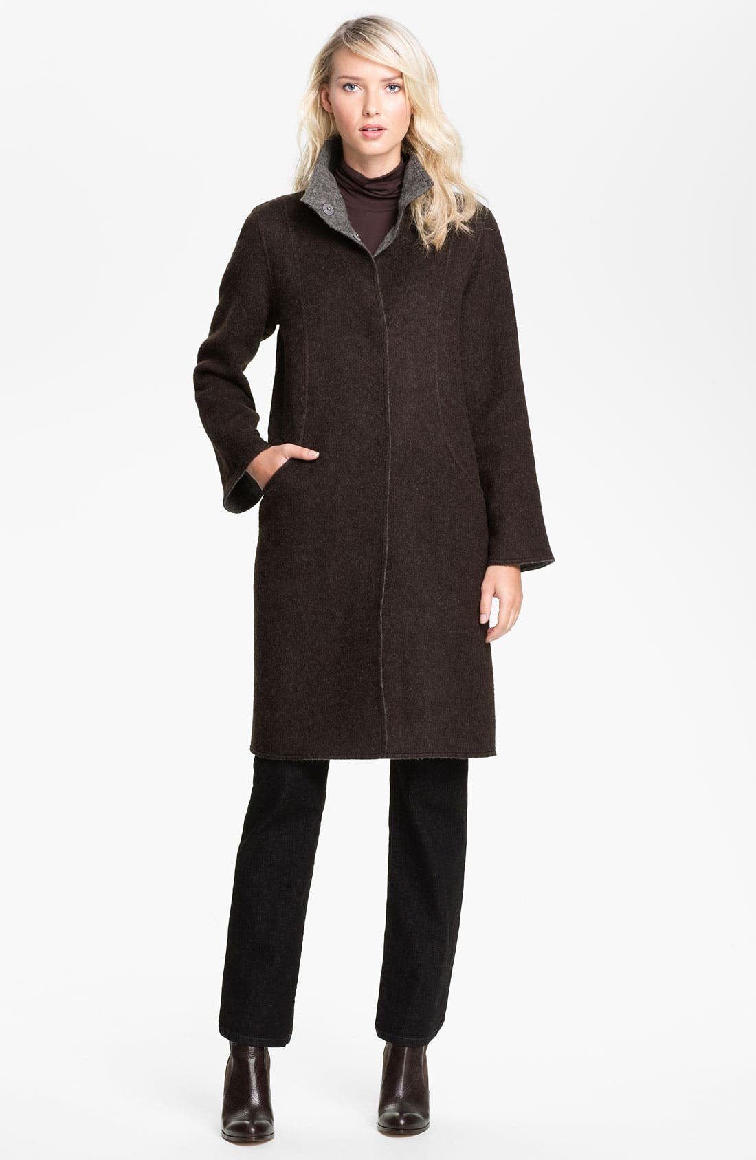 Main Image - Eileen Fisher Alpaca Blend Coat