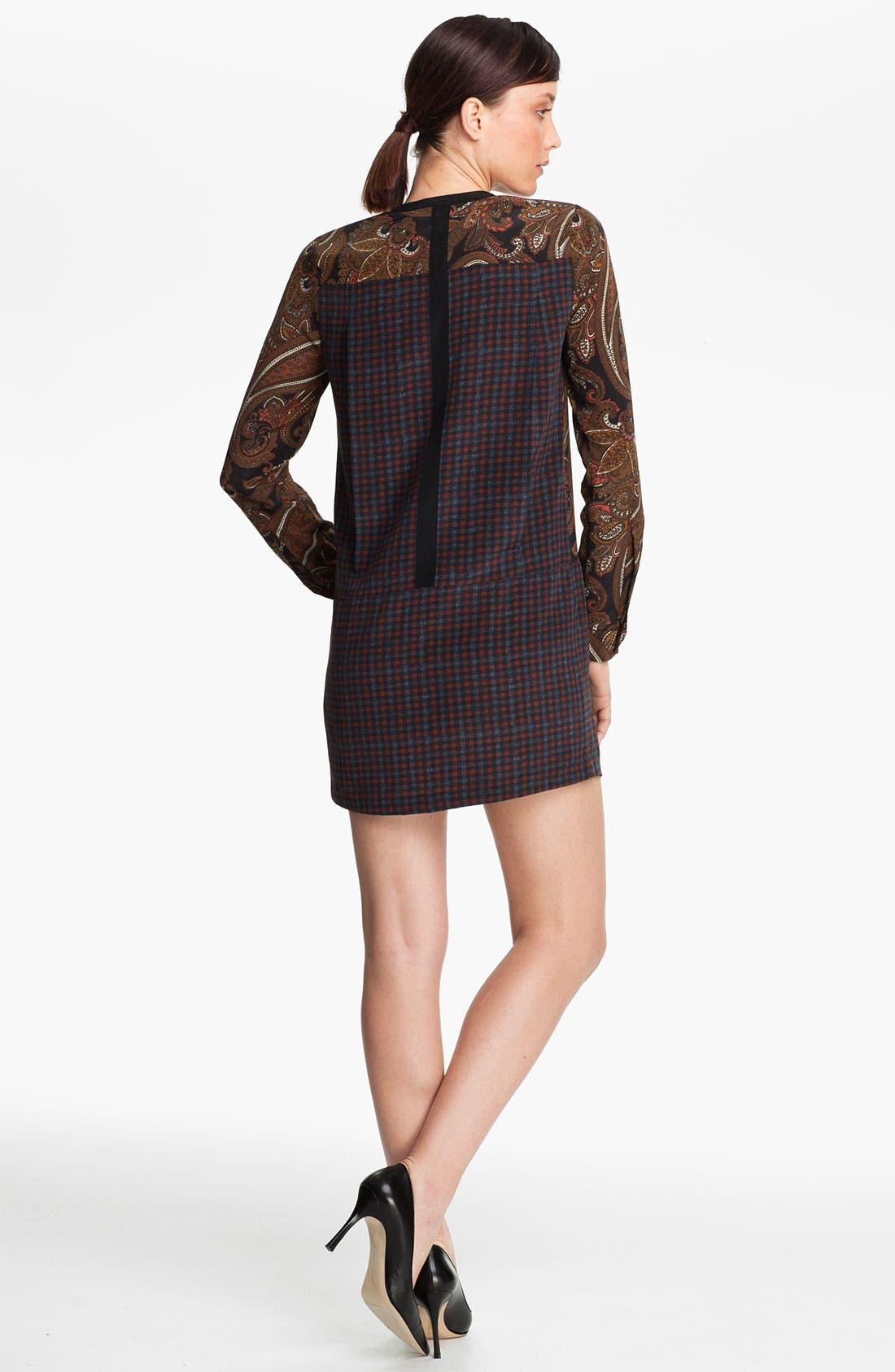 Alternate Image 2  - A.L.C. 'Whitney' Print Silk Tunic Dress