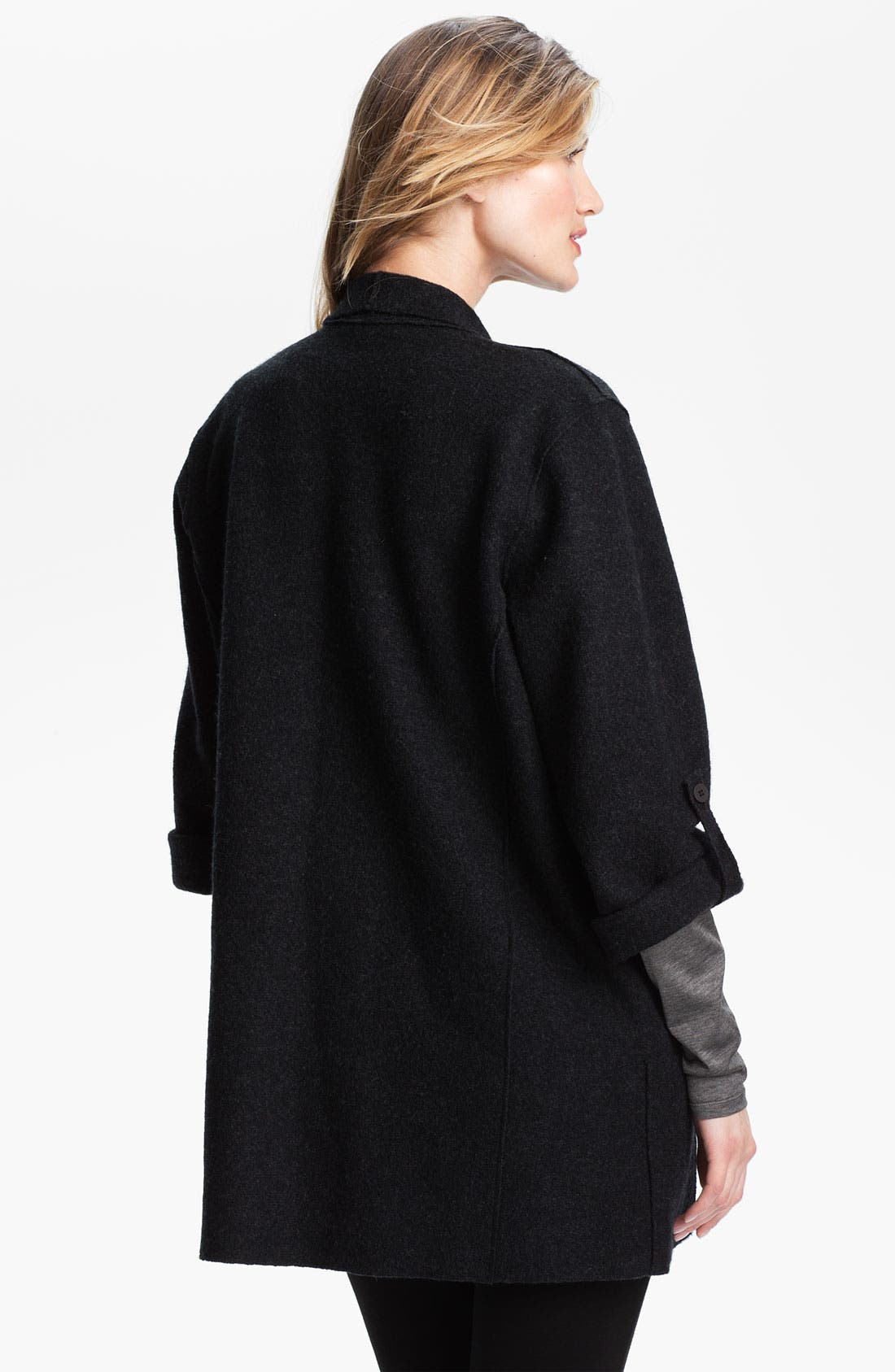 Alternate Image 2  - Eileen Fisher Lightweight Boiled Wool Jacket