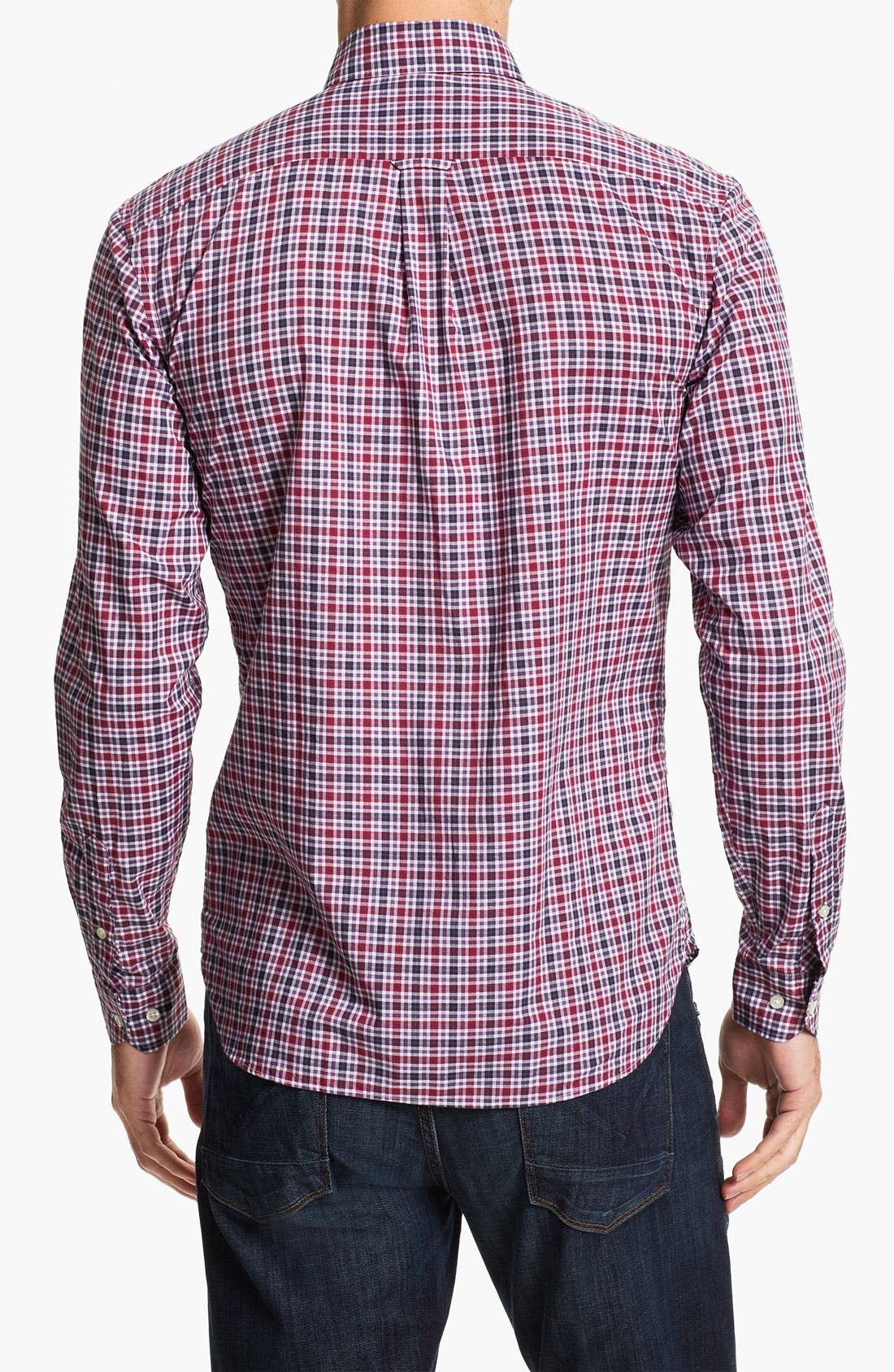 Alternate Image 2  - Lacoste Slim Fit Plaid Sport Shirt
