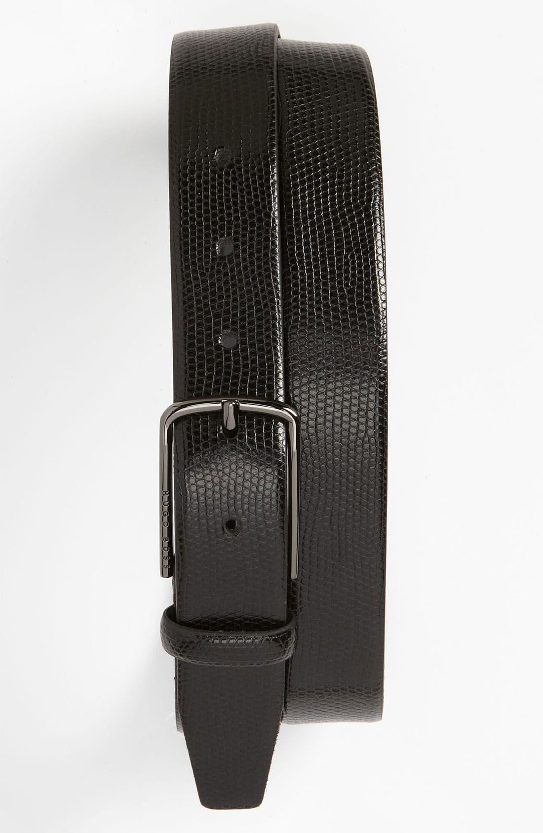 Alternate Image 1 Selected - BOSS Black 'Eleon' Leather Belt