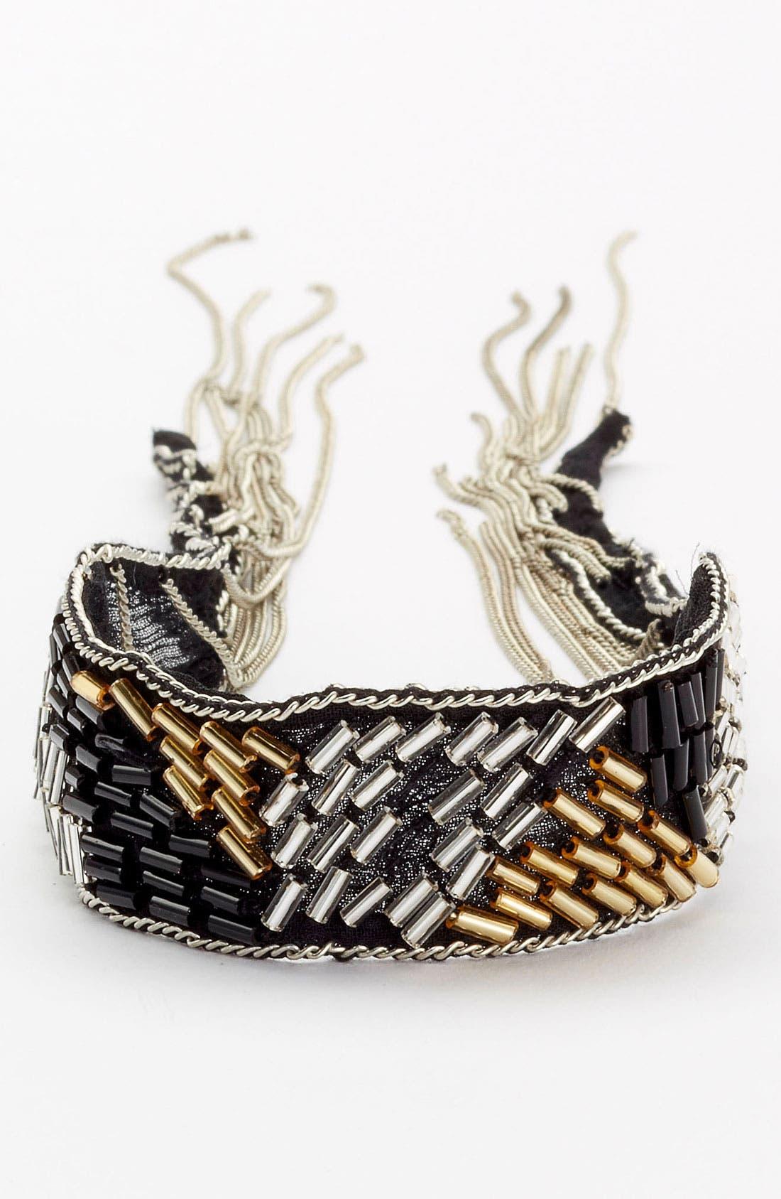 Alternate Image 1 Selected - Chan Luu Silk Chiffon Tie Bracelet