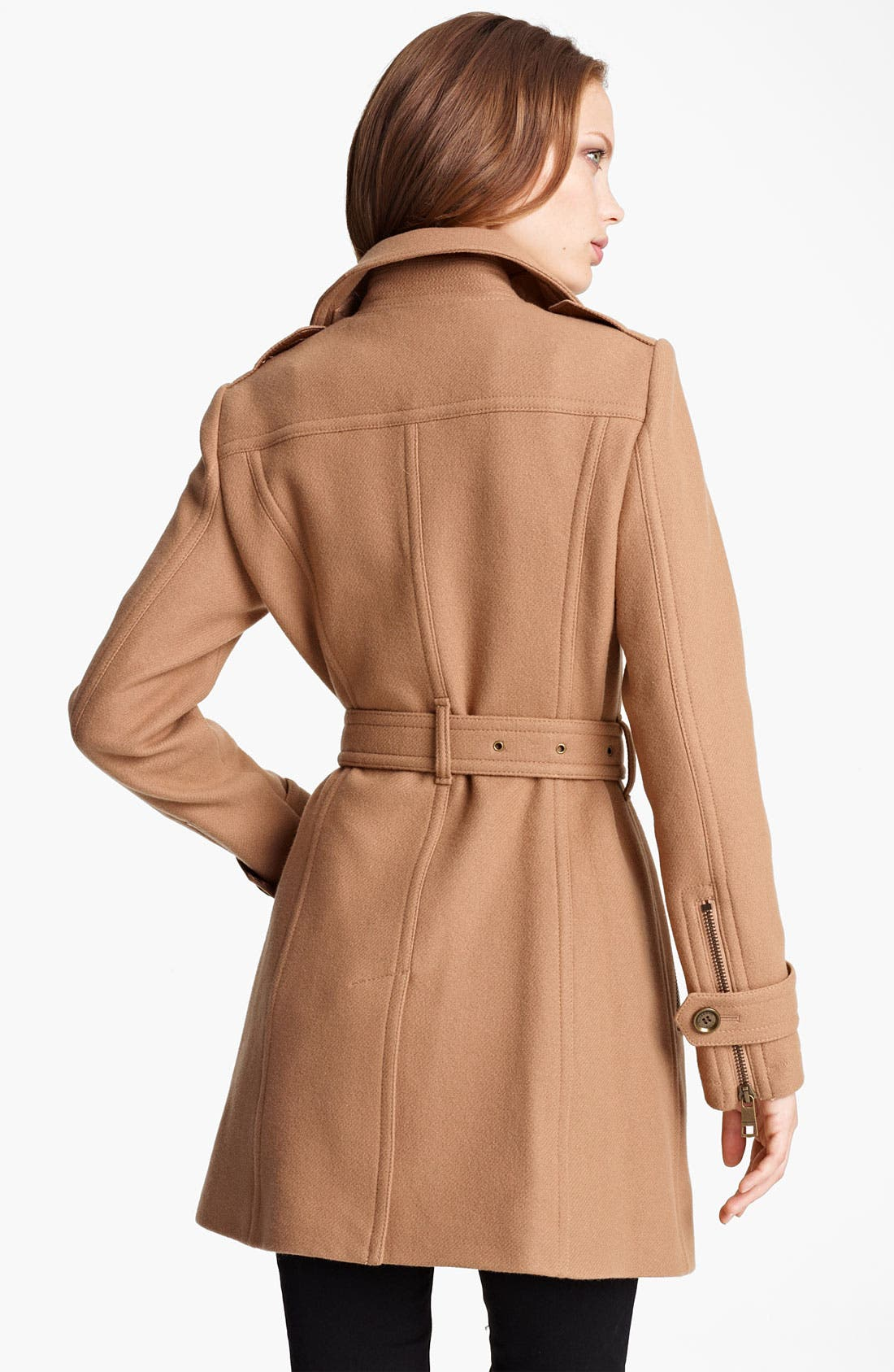 Alternate Image 2  - Burberry Brit 'Benthams' Double Breasted Wool Blend Coat