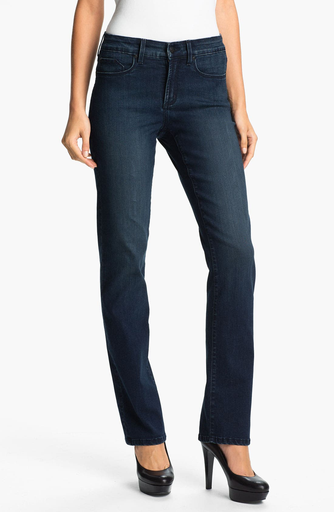 Alternate Image 1 Selected - NYDJ 'Marilyn' Straight Leg Jeans (Petite)
