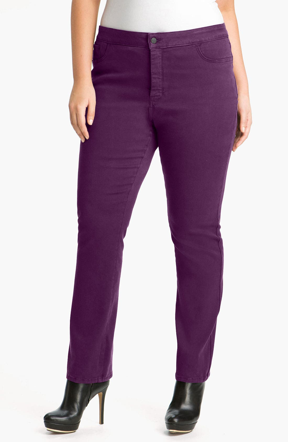 Main Image - NYDJ 'Jaclyn' Stretch Skinny Jeans (Plus)