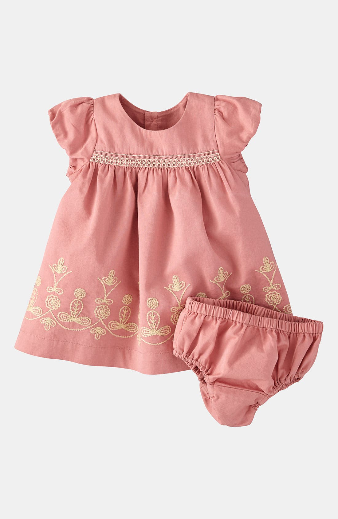 Alternate Image 1 Selected - Mini Boden Embroidered Dress (Infant)