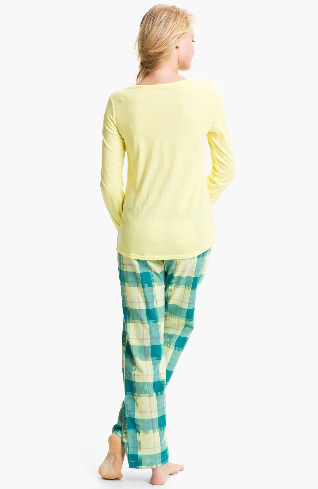 Alternate Image 2  - Nordstrom Henley Flannel Pajamas