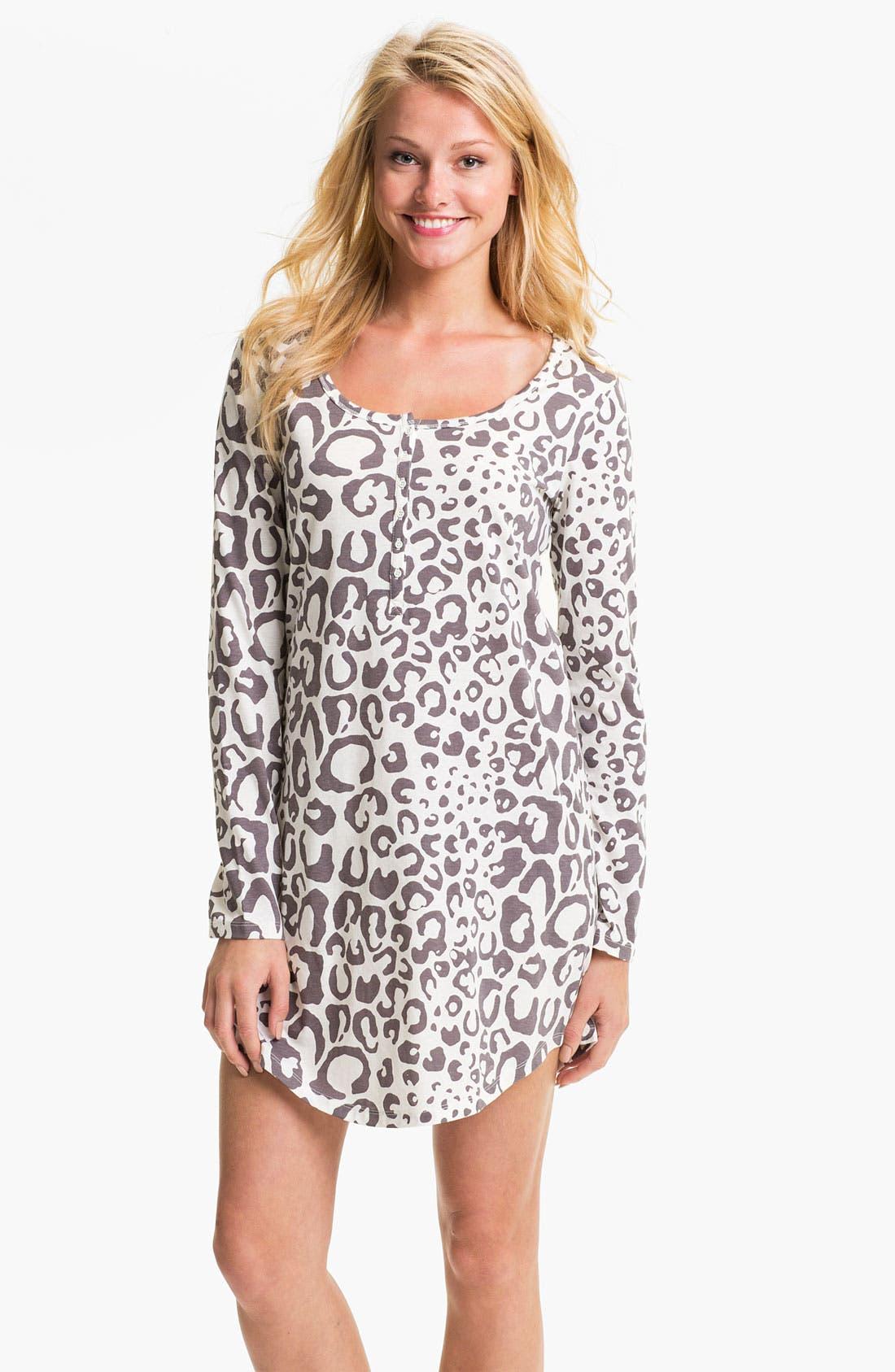 Alternate Image 1 Selected - Nordstrom Long Sleeve Henley Sleep Shirt