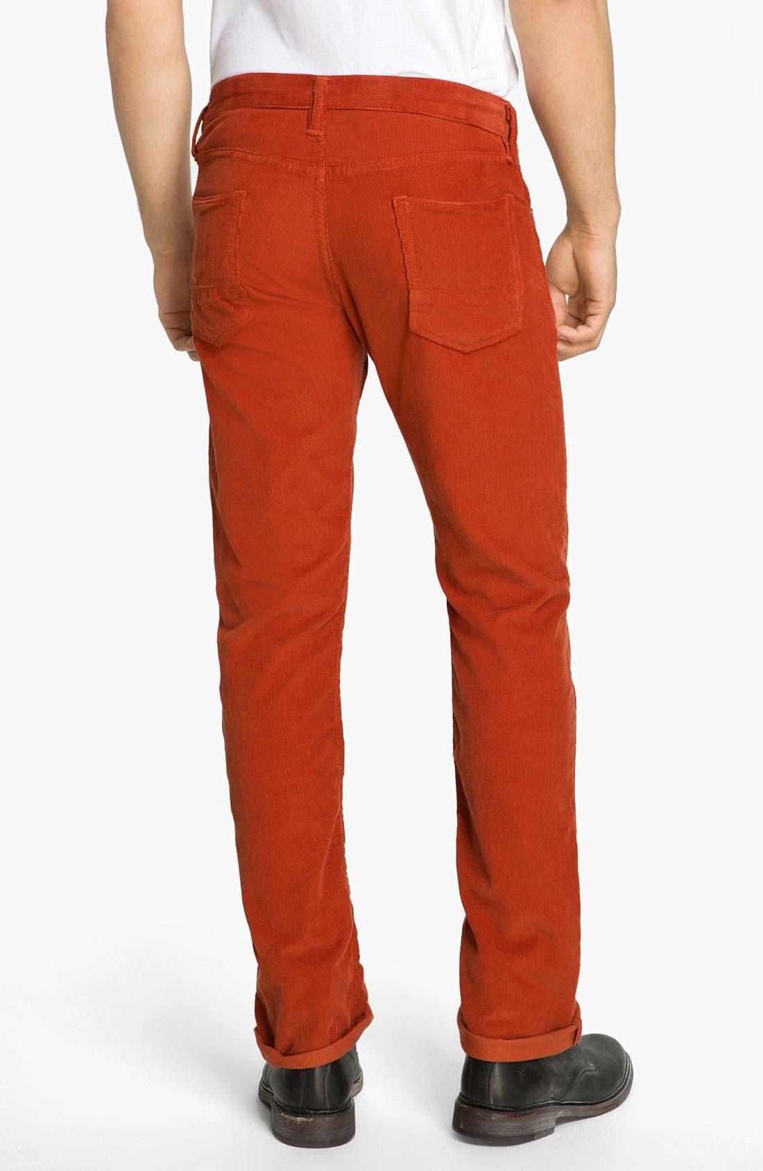 Alternate Image 2  - NSF Clothing Slim Straight Leg Corduroy Pants