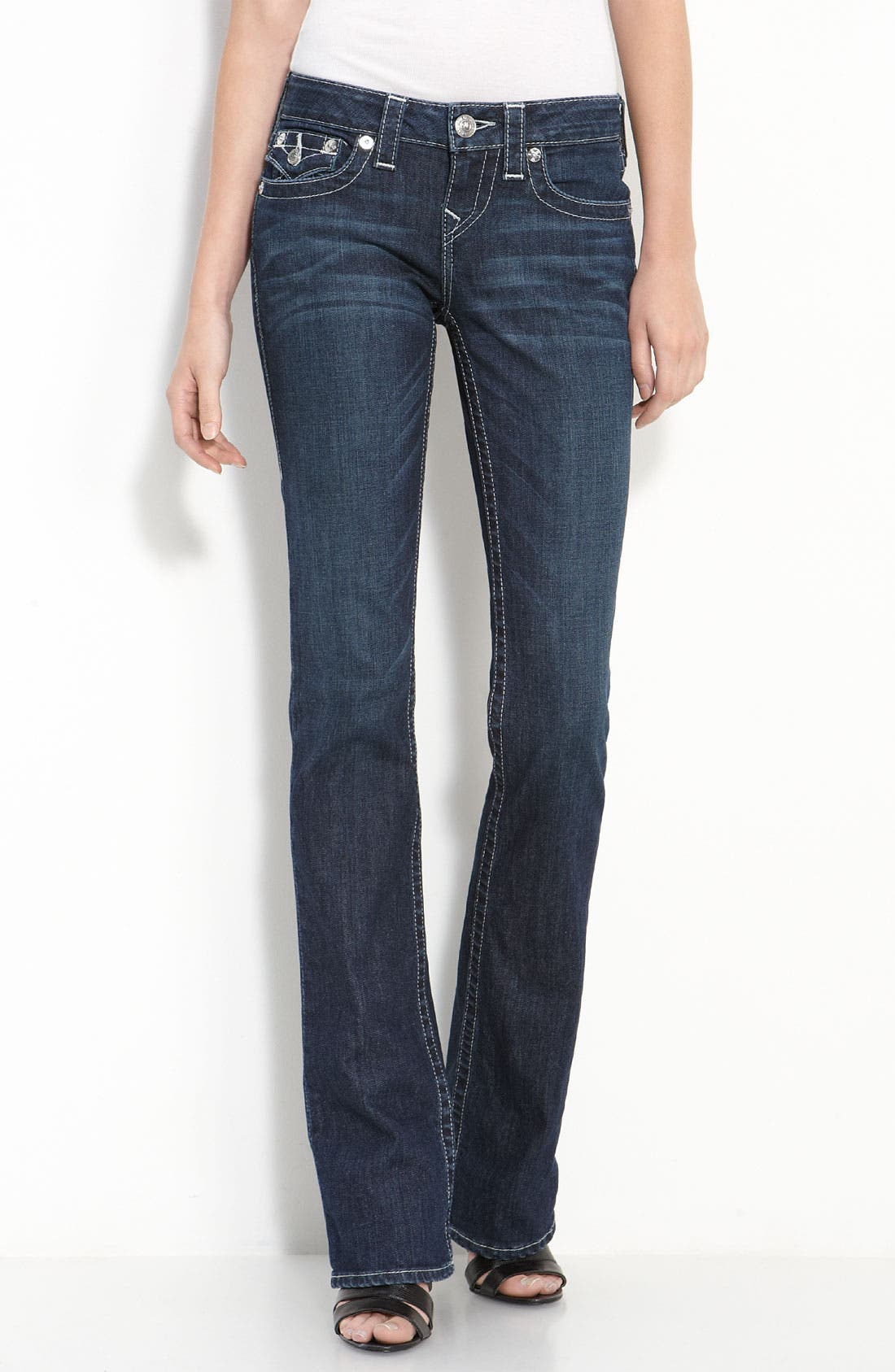 Alternate Image 1 Selected - True Religion Brand Jeans 'Becky' Bootcut Jeans (Houston)(Online Only)