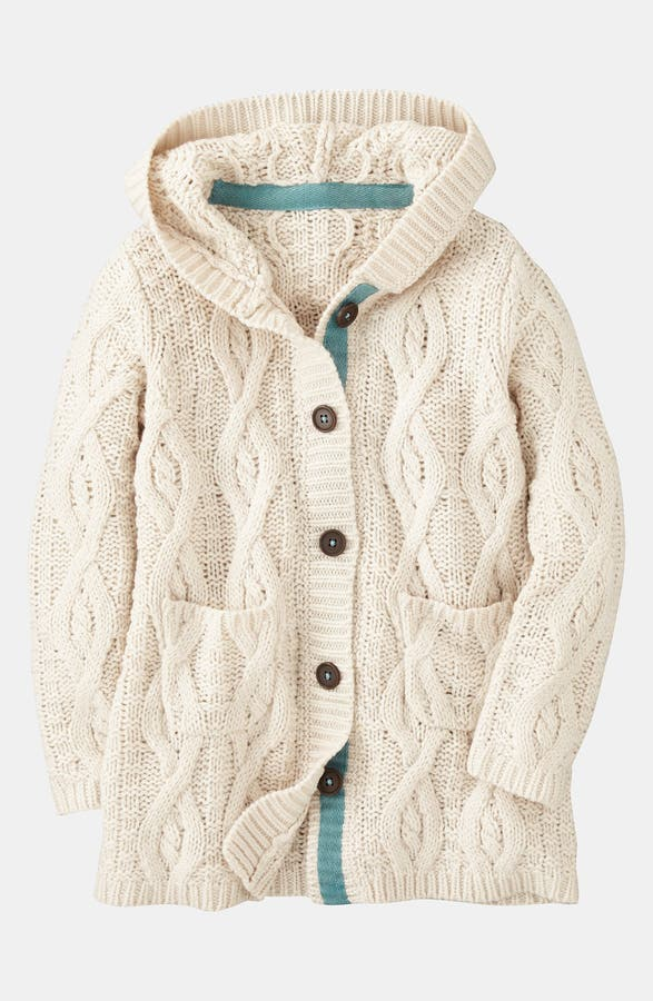 Mini Boden Chunky Cable Knit Cardigan Little Girls Big Girls