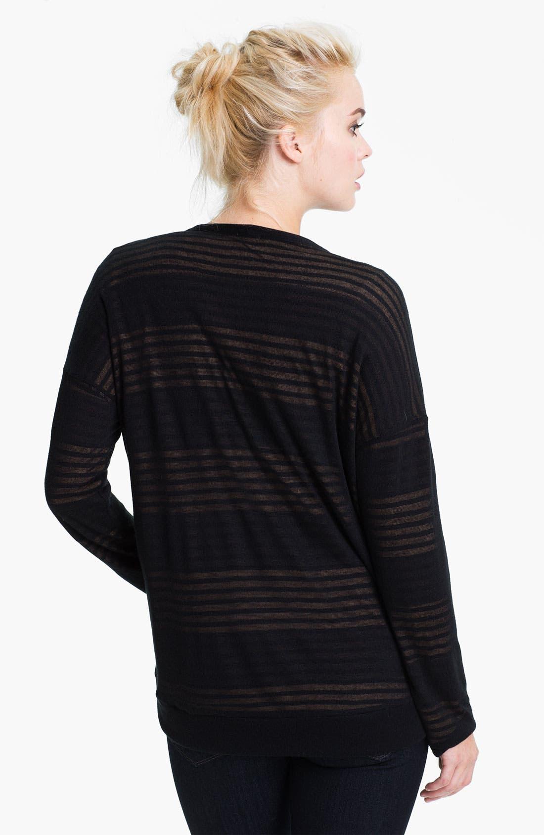 Alternate Image 2  - Splendid Double Knit Stripe Cardigan