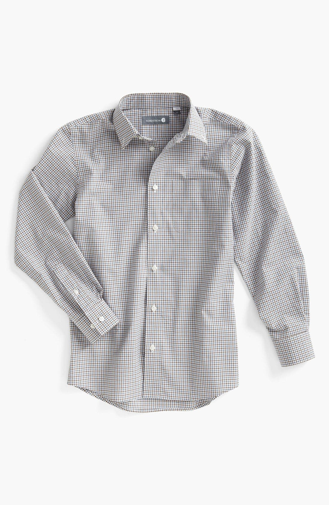 Alternate Image 1 Selected - Nordstrom Gingham Dress Shirt (Little Boys)