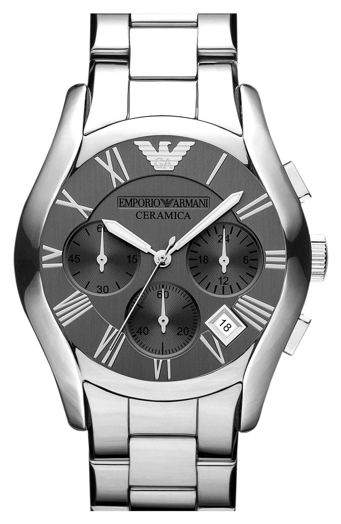 Alternate Image 1 Selected - Emporio Armani Chronograph Titanium Ceramic Watch, 43mm