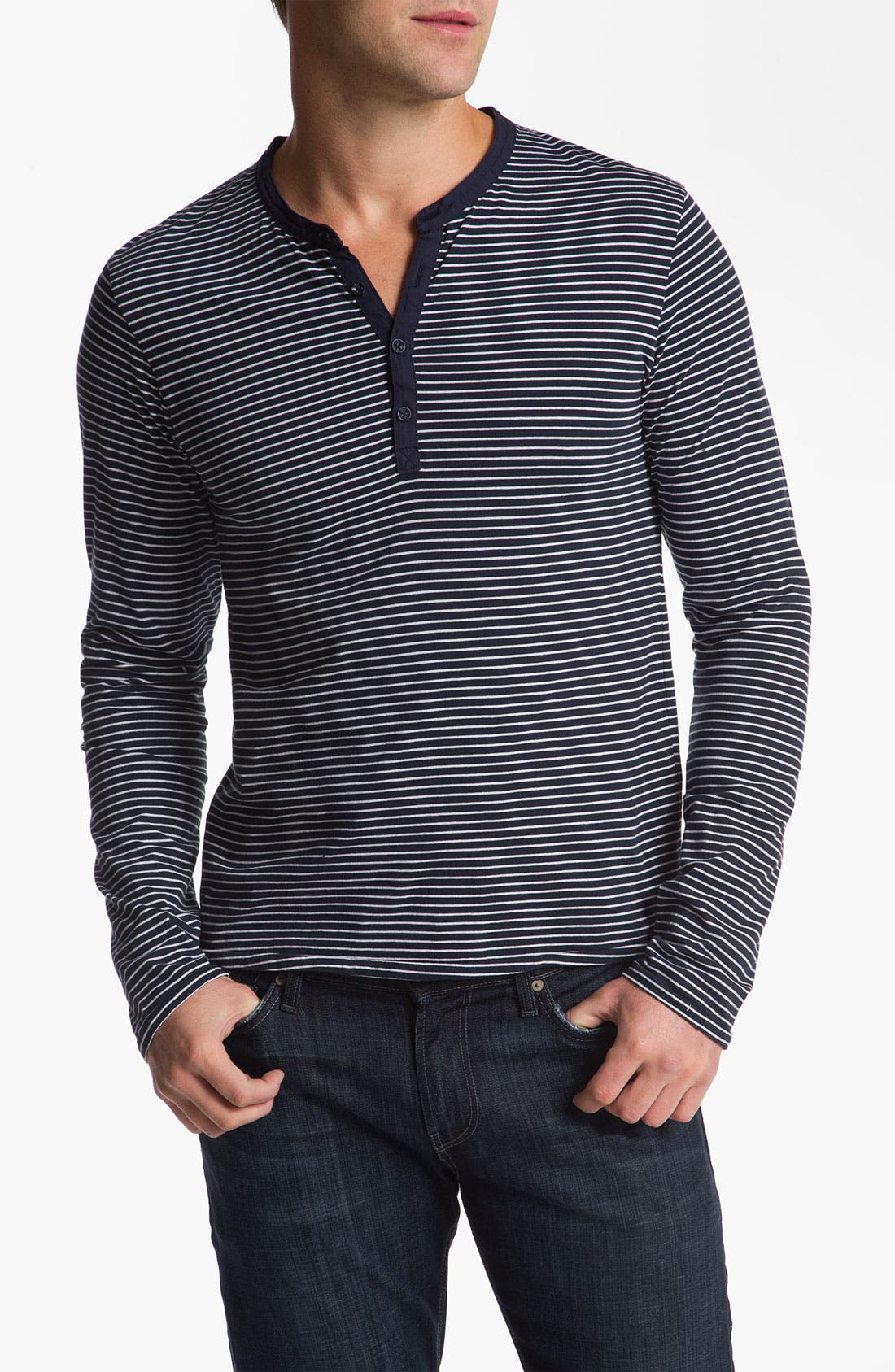 Alternate Image 1 Selected - Scotch & Soda Slub Knit Jersey Henley