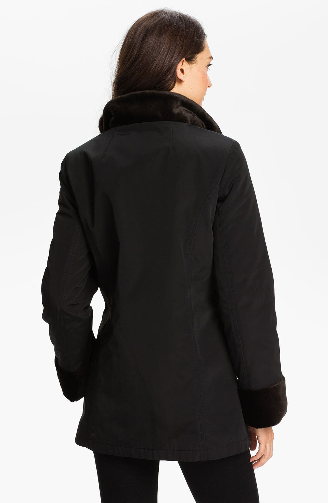 Alternate Image 2  - Gallery Storm Coat with Faux Fur Lining
