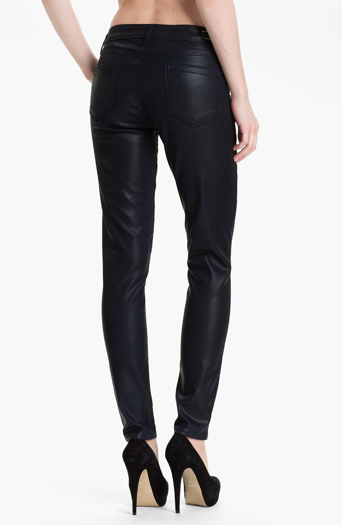 Alternate Image 2  - Paige Denim 'Verdugo' Coated Stretch Denim Jeans (Azure Silk)