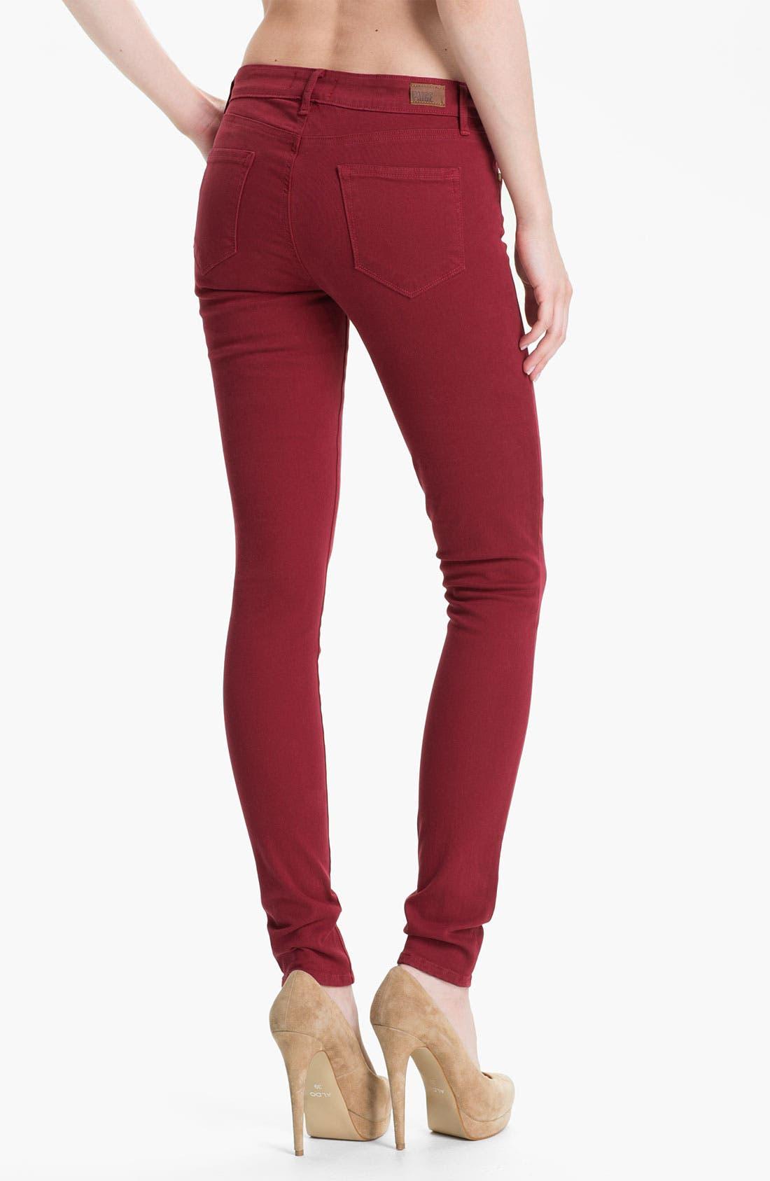 Alternate Image 2  - Paige Denim 'Verdugo' Skinny Stretch Denim Jeans (Cardinal)