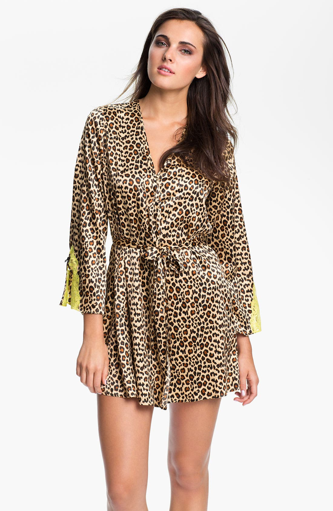 Alternate Image 1 Selected - Betsey Johnson 'Sultry' Stretch Satin Wrap