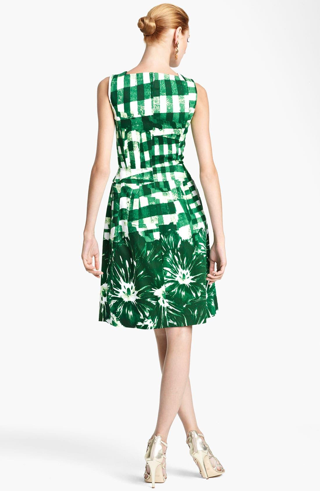 Alternate Image 2  - Oscar de la Renta Print Piqué Dress