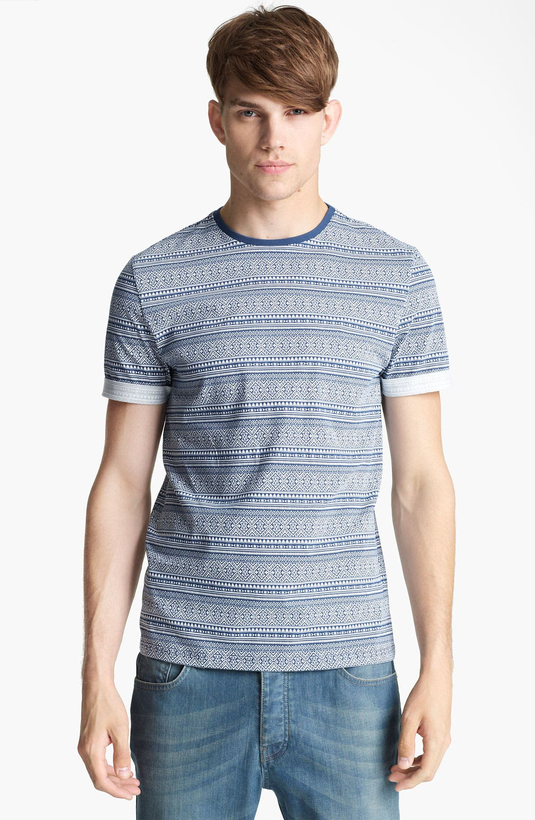 Alternate Image 1 Selected - Topman Mini Aztec Pattern T-Shirt