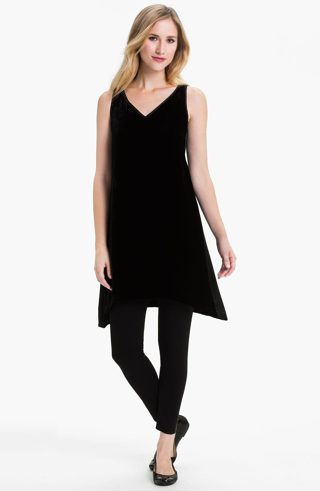 Alternate Image 1 Selected - Eileen Fisher Velvet Layering Dress