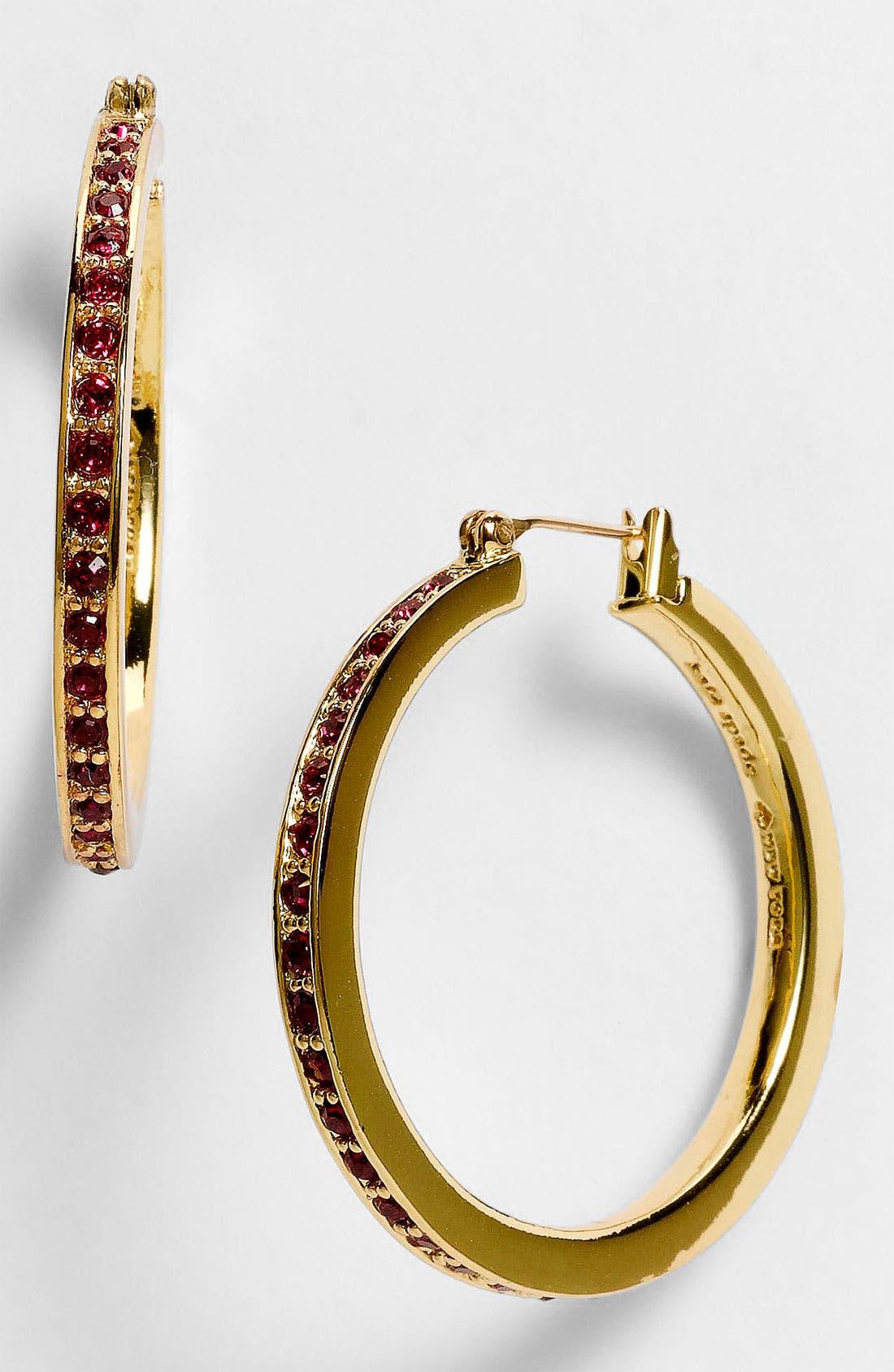 Alternate Image 1 Selected - kate spade new york hoop earrings