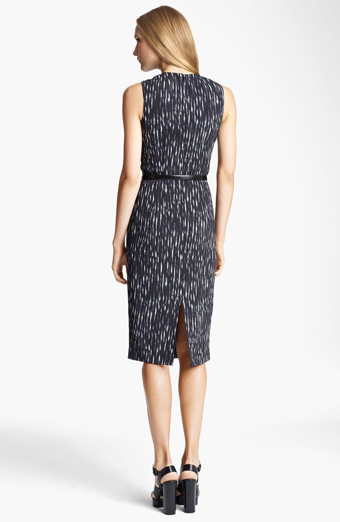 Alternate Image 2  - Michael Kors Ikat Print Cady Sheath Dress